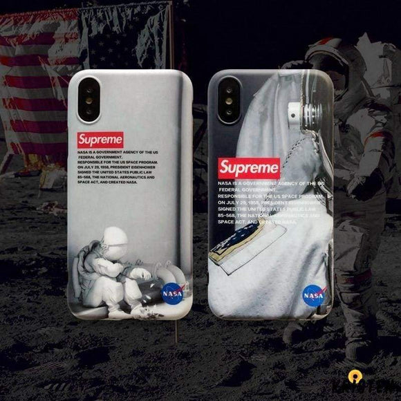 Nasa X Supreme Style Silicone Shockproof Protective Designer Iphone Case for Iphone 12 Pro Max Mini