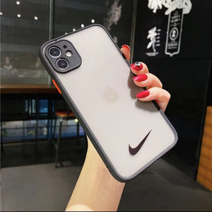 Nike Style Acrylic Protective Designer Iphone Case for 12 Pro Max Mini