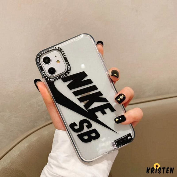 Nike Style Sb Series Tempered Glass Clear Protective Designer Iphone Case for Se 11 Pro Max X - iPhone