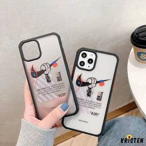 Nike X Mickey Mouse Style Tempered Glass Shockproof Protective Designer Iphone Case for Se 11 - iPhone