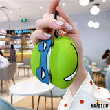 Ninja Turtles Style Silicone Protective Case for Apple Airpods 1 & 2 - AirPods