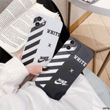Off White Style Silica Gel Protective Designer Iphone Case for 12 Pro Max Mini