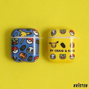 Pikachu Style Glossy Hard Protective Case for Apple Airpods 1 & 2 - AirPods
