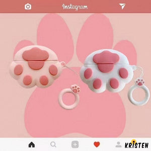 Pink Paw Silicone Designer Protective Case for Apple Airpods Pro - AirPods