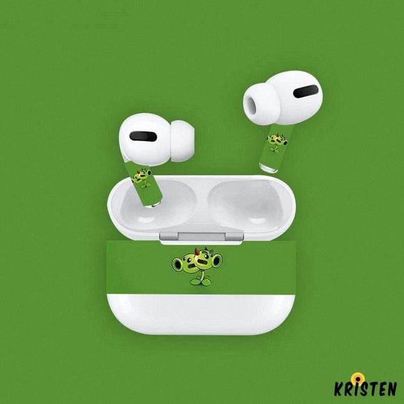 Plants vs Zombies Style Skin Sticker Adhesive Protective Decal for Apple Airpods Pro - AirPods Case