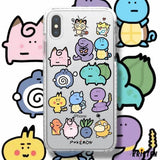 Pokemon Style Clear Silicone Shockproof Protective Designer Iphone Case for Se 11 Pro Max X - iPhone