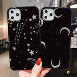 Starry Sky Furry Shockproof Protective Designer Iphone Case for Iphone 12 Pro Max Mini