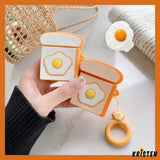 Sunny up Egg Toast Silicone Protective Shockproof Case for Apple Airpods 1 & 2 - AirPods