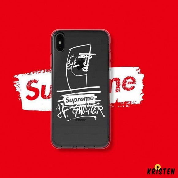 Supreme Style Clear Soft Silicone Shockproof Protective Designer Iphone Case for Se 11 Pro - iPhone