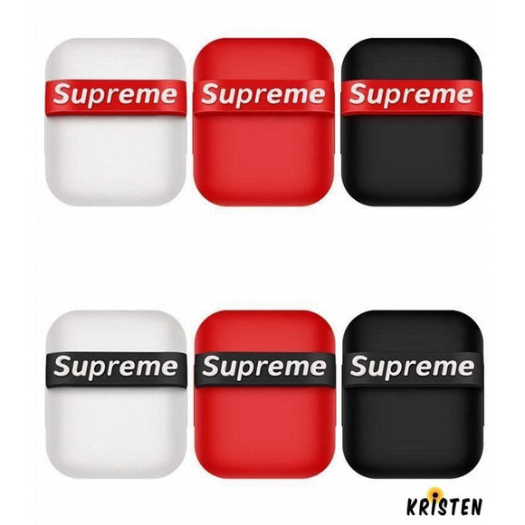 Supreme Style Modern Silicone Protective Shockproof Case for Apple Airpods 1 & 2 - AirPods