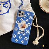 Takashi Murakami X Louis Vuitton Style Glossy Protective Designer Iphone Case for 12 Pro Max Mini