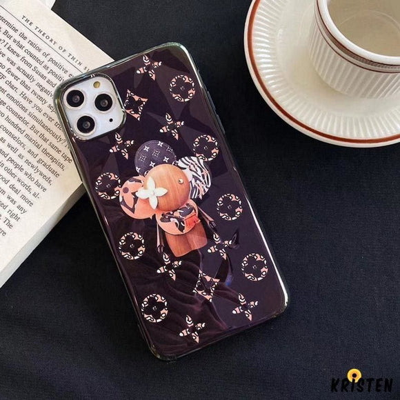 Takashi Murakami X Louis Vuitton Style Glossy Protective Designer Iphone Case for Se 11 Pro - iPhone