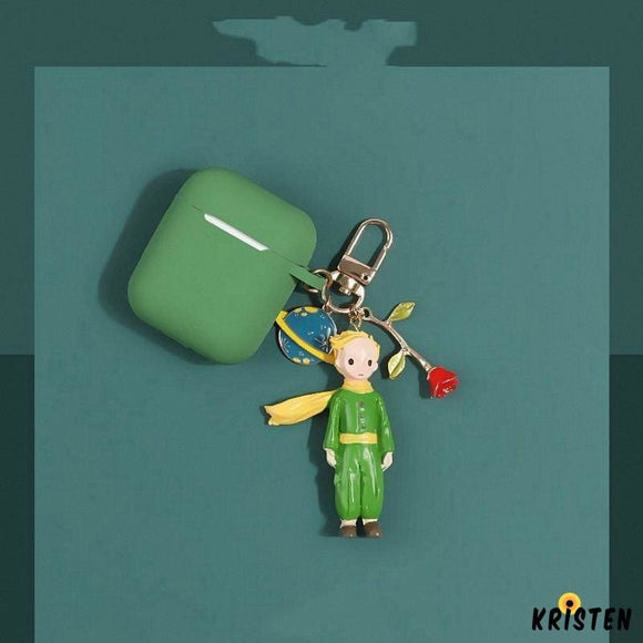 The little Prince Style Keychain Silicone Protective Case for Apple Airpods 1 & 2 - AirPods