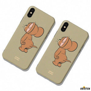 Tom and Jerry Style Silicone Shockproof Protective Designer Iphone Case for Se 11 Pro Max X - iPhone