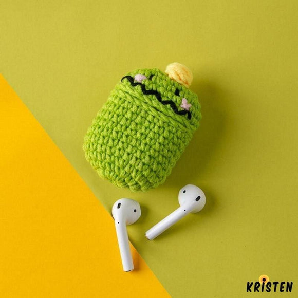 Tom Green Monster Knit Soft Protective Shockproof Case for Apple Airpods 1 & 2 - AirPods