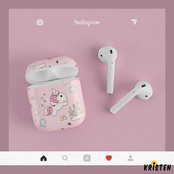 Unicorn Pink Hard Protective Shockproof Case for Apple Airpods 1 & 2 - AirPods