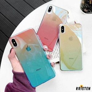 Waterproof Blue Ray Ombre Gradient Colorful Blue Light