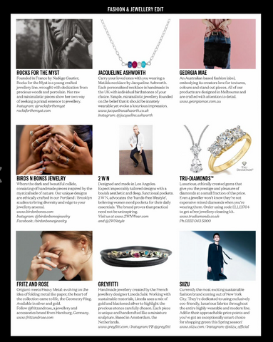 Elle UK April 17 Birds N Bones Jewelry