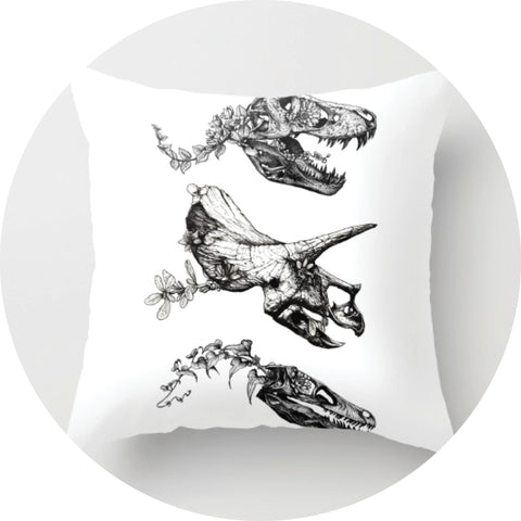 Jurassic Bloom Pillow