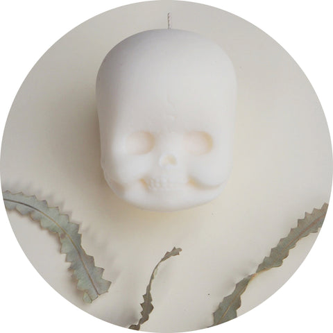 JJ Doll Head SKull Candle