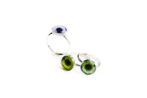 Taxidermy Eye Ring by Birds N Bones Jewelry