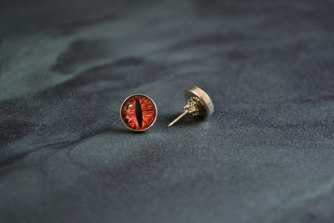 Dragon Eye Stud Earrings by Birds N Bones Jewelry