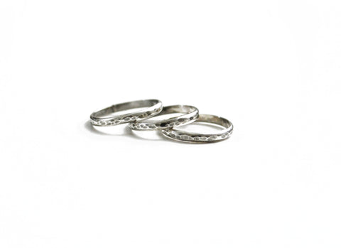 Hammered Midi Rings by Birds N Bones Jewelry