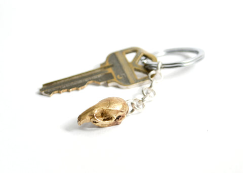 Mus Skull Keychain by Birds N Bones Jewelry