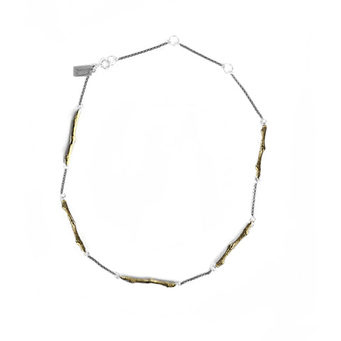 Grande Twig Choker . Brass birds n bones jewelry