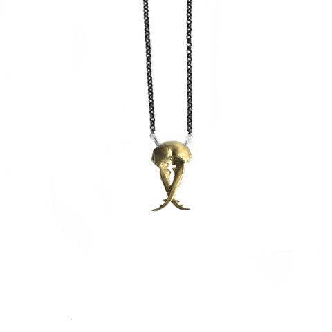 brass pincher head necklace