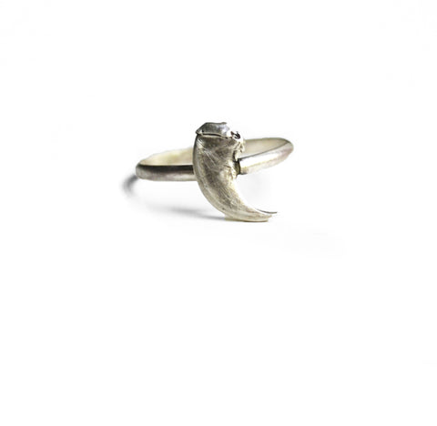 Taxidea Ring Small Claw by Birds N Bones Jewelry
