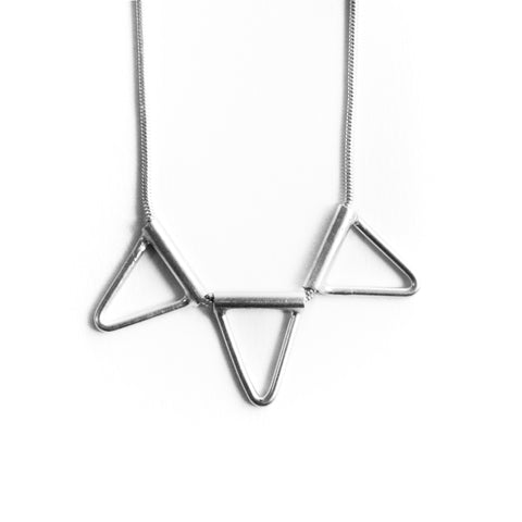 Triangle Tube Necklace Trifecta by Birds N Bones Jewelry