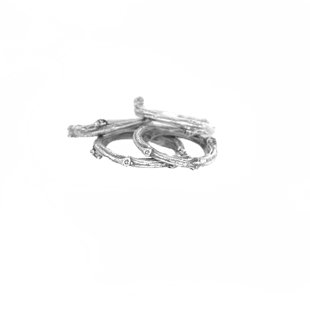 Striated Twig Ring Birds N Bones Jewelry