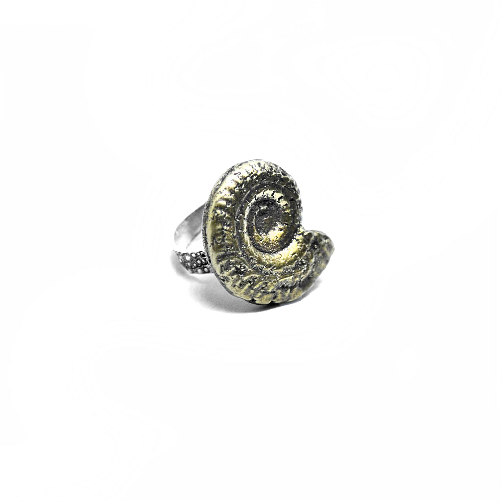 Ammonite Ring Birds N Bones Jewelry