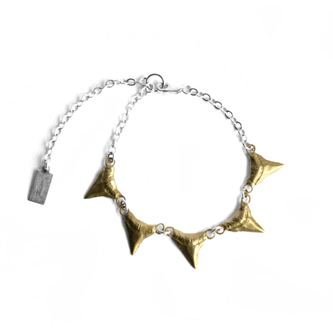 Basilisk Incisor Bracelet by Birds N Bones Jewelry brass
