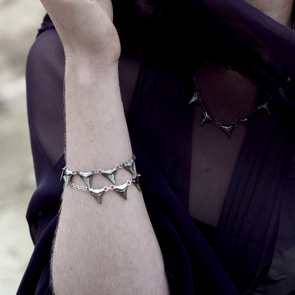 Basilisk Incisor Bracelet by Birds N Bones Jewelry