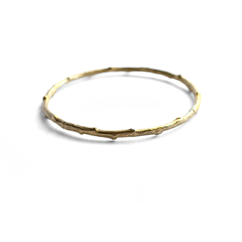 Twig Bangle Brass birds n bones jewelry