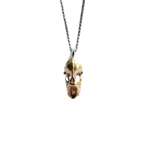 Hydra Minimus Skull Necklace . Brass