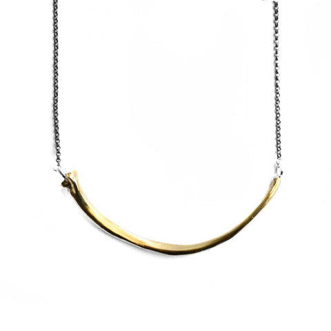 Wyvern Rib Necklace . Bar . Brass