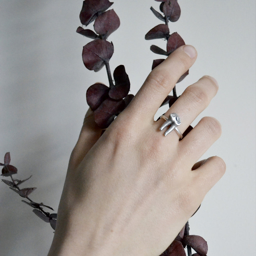 Cervidae Tooth Ring by Birds N Bones Jewelry