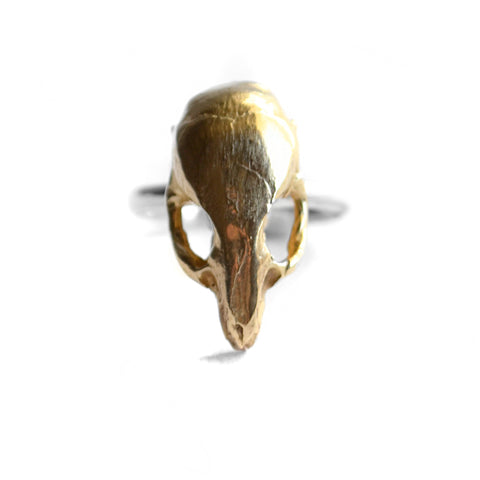 Mus Ring by Birds N Bones Jewelry brass