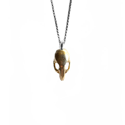Mus Pendant Brass by Birds N Bones Jewelry