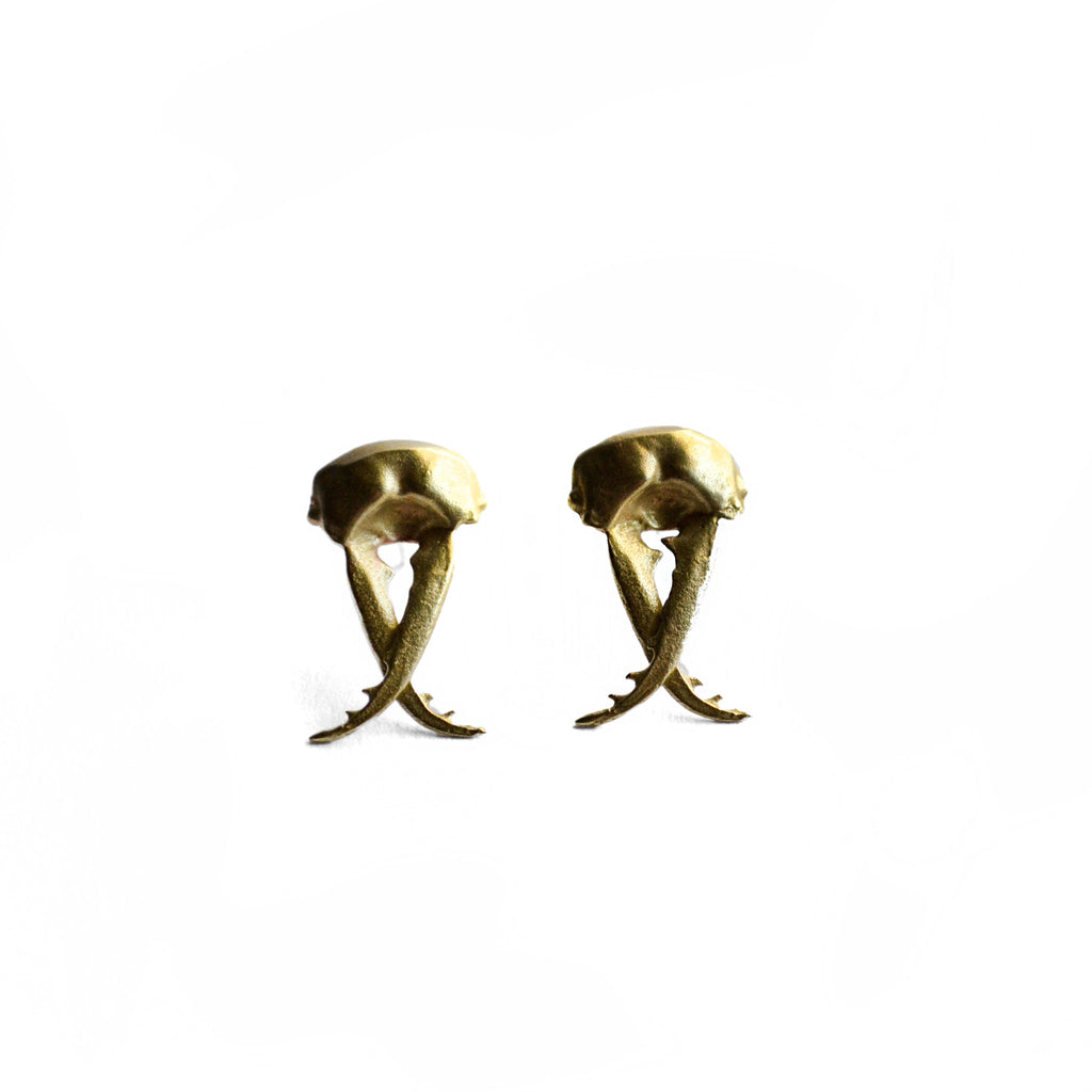 Pincher Head Studs Birds N Bones Jewelry Brass