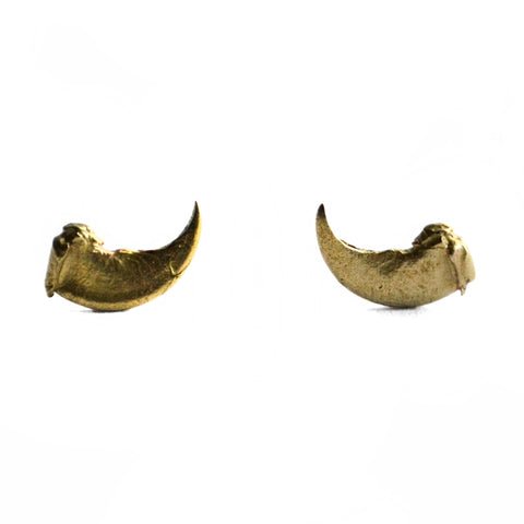 Taxidea Studs Small Claw by Birds N Bones Jewelry brass