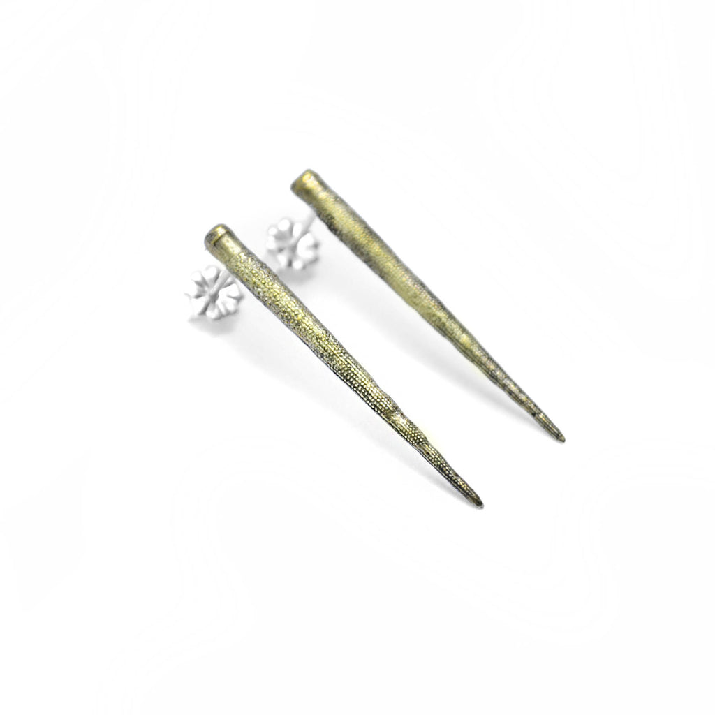 urchin spike studs birds n bones jewelry oceanic collection