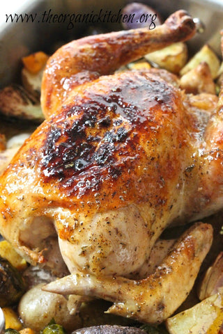 Organic Maple Roasted Chicken with Vegetables