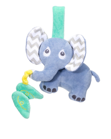 organic plush baby travel toy, elephant stroller toy