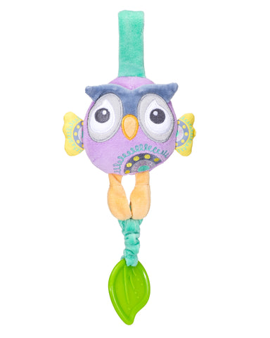 plush owl organic baby carrier toy
