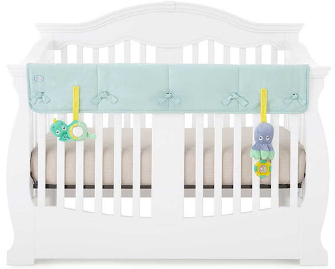 Eco-Teether Wide Organic Crib Rail Cover - Aqua (Front/Back)