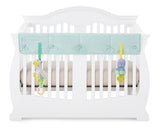Aqua Organic Crib Rail Cover - Narrow Rail